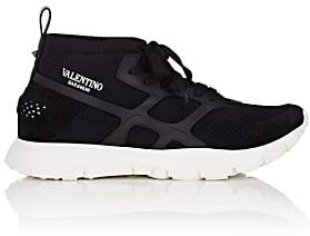 Valentino Men's Sound High Knit Sneakers-Black