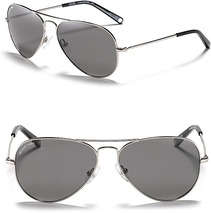MICHAEL Michael Kors Michael Kors Jet Set Aviator Polarized Sunglasses