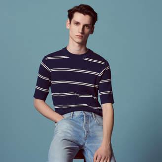 Sandro Stripy short-sleeved sweater