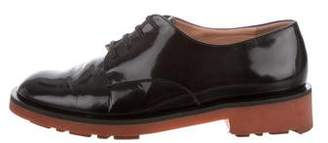 Robert Clergerie Patent Leather Round-Toe Oxfords