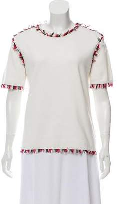 Thom Browne Fringe Embellished T-Shirt