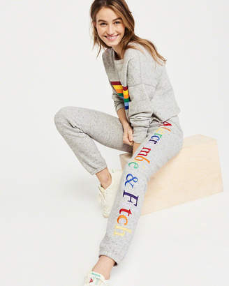 Abercrombie & Fitch Rainbow Logo Banded Sweatpants