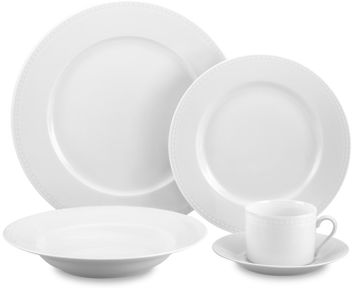 Apilco Beaded Hemstitch Porcelain Dinnerware Place Settings