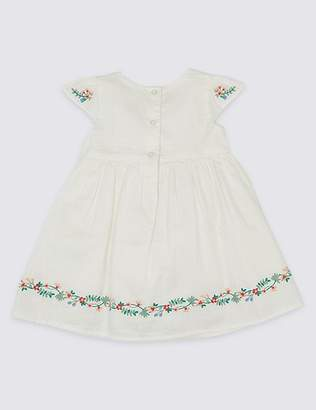 Marks and Spencer Floral Print Pure Cotton Dress