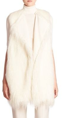 Theory Nyma Faux Fur Vest $495 thestylecure.com