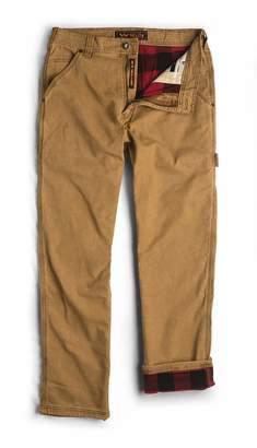 Walls Men's Carpenter Vintage Plaid Flannel Lined Pant with Spandex Stretch