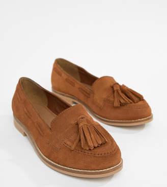 Asos Design DESIGN Messenger Wide Fit Suede Tassel Loafers
