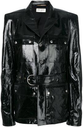 Saint Laurent square shoulder safari jacket