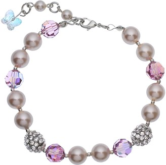 Swarovski Crystal Avenue Silver-Plated Simulated Pearl & Crystal Bracelet - Made with Crystals