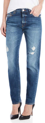 Love Moschino Distressed Straight Jeans