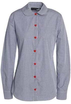 Love Moschino Gingham Cotton-Poplin Shirt
