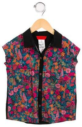 Sonia Rykiel Girls' Printed Button-Up Top