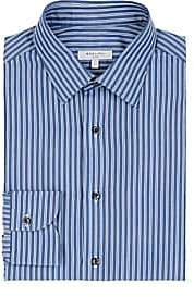 Boglioli Men's Striped Cotton Poplin Dress Shirt - Stripe