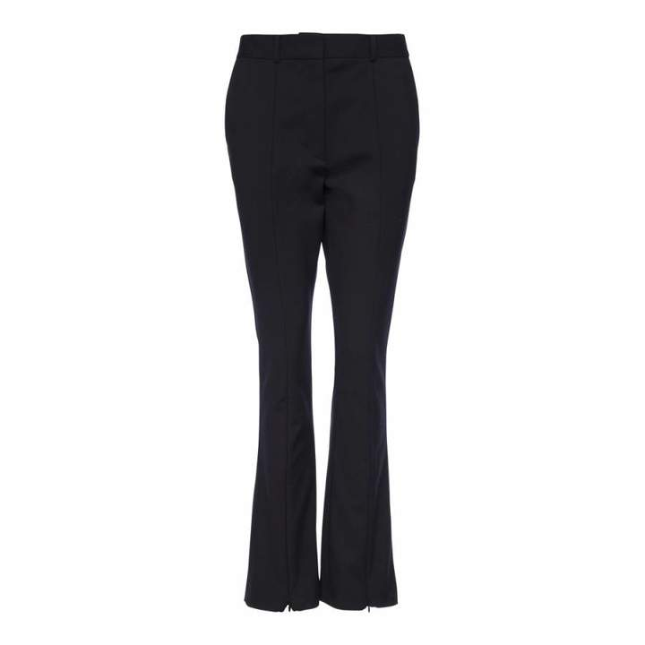 Black Glass Stretch Trousers