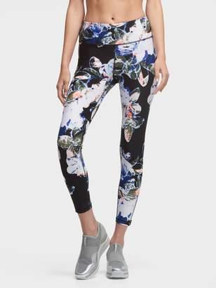 DKNY Cropped Floral-Printed High-Waist Legging