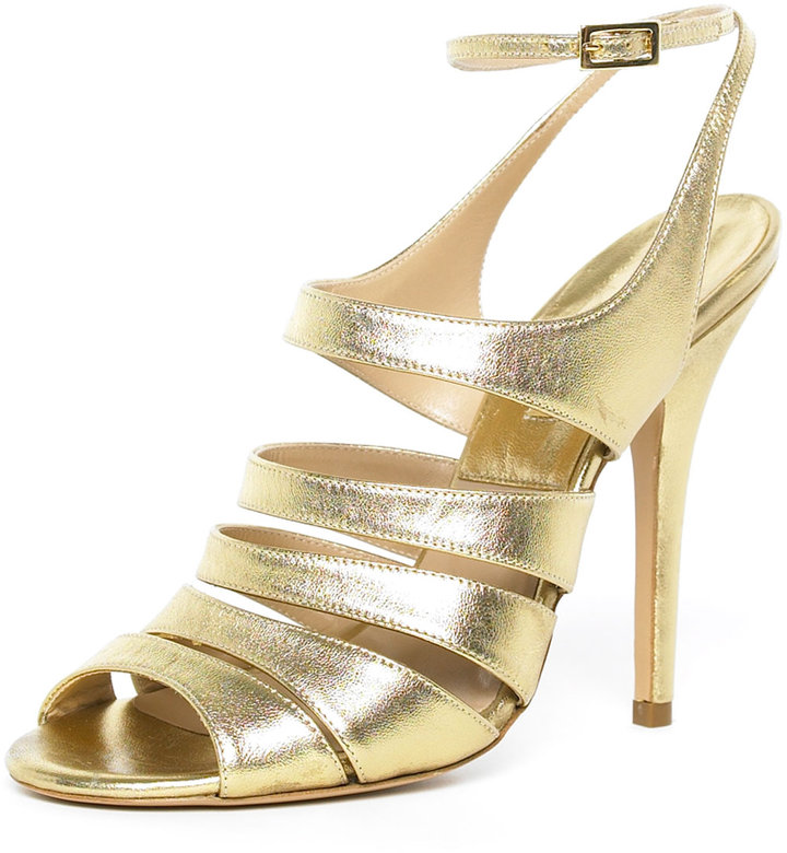 Michael Kors Strappy Metallic Sandal
