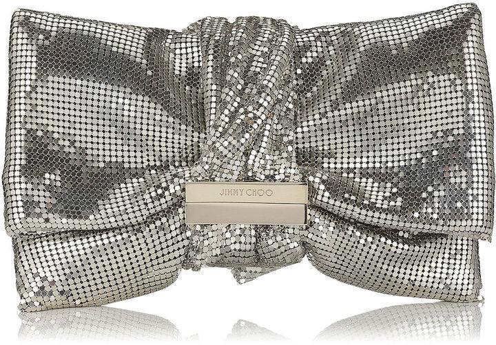 Jimmy ChooCHANDRA/M Silver Chainmail Clutch Bag