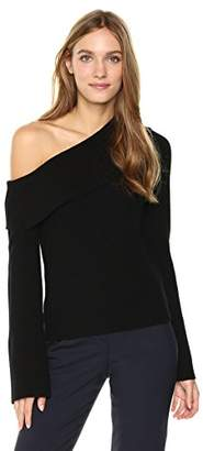 Theory Women's One Shoulder Foldover Po