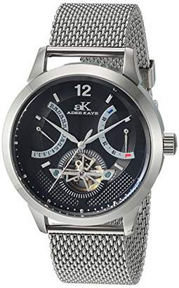 Adee Kaye Men's 'PROSPERE Collection Stainless Steel Automatic Watch