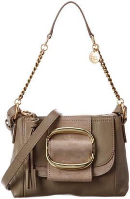 See by Chloe Hopper Leather & Suede Shoulder Bag