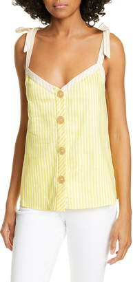 75036b0da Ted Baker Colour by Numbers Asinara Stripe Cotton   Linen Blend Camisole