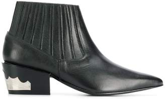 Toga pointed Western ankle boots