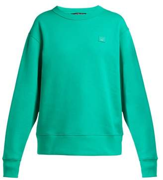 Acne Studios Face Sweatshirt - Womens - Green