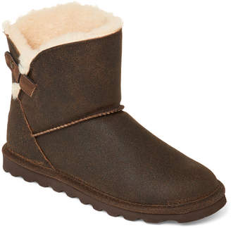 BearPaw Chestnut Margaery Real Fur & Suede Boots