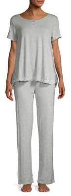 Juicy Couture Two-Piece Lace Trim Sleep Set