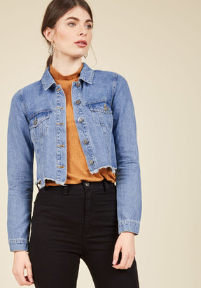 Make It by the Cutoff Date Denim Jacket in XS $19.99 thestylecure.com