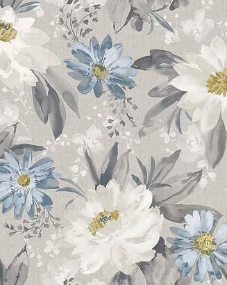 Dahlia Marisota Painted Wallpaper