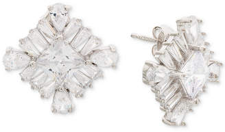 Giani Bernini Cubic Zirconia Square Cluster Stud Earrings in Sterling Silver
