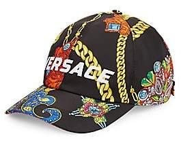 Versace Men's Jewelry Barocco Print Logo Embroidered Baseball Cap