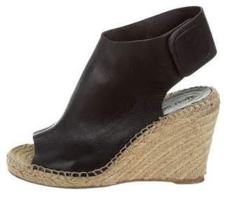 Celine Leather Espadrille Wedges