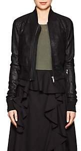Rick Owens Women's Blistered Leather Bomber Jacket - Black