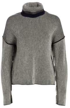 Theory Oversized Stripe Knit Cashmere Sweater