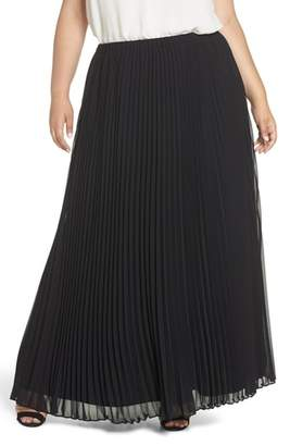 Alex Evenings Long Pleated Chiffon Skirt