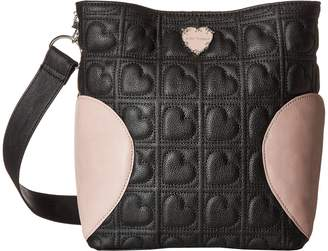 Betsey Johnson Womens Small Hobo with Heart Gusset