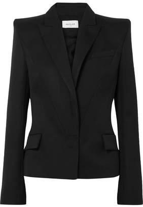 Thierry Mugler Wool-crepe Blazer - Black