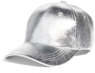 Collection XIIX Crackled Metallic Baseball Cap