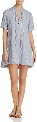4OUR DREAMERS Lace-Up Stripe Shirt Dress $128 thestylecure.com