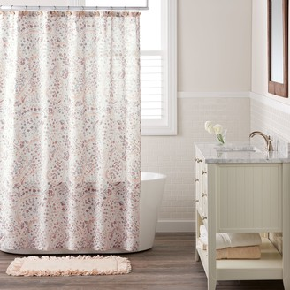 Lauren Conrad Faded Paisley Shower Curtain