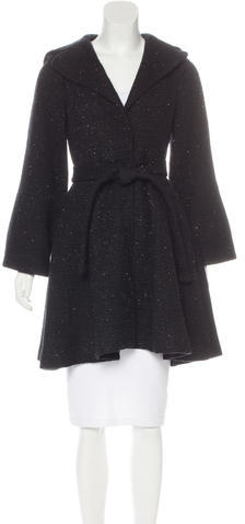 Alice + Olivia Alice + Olivia Wool-Blend Tweed Coat