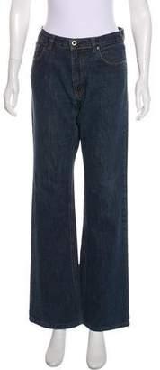Miu Miu Mid-Rise Wide-Leg Jeans