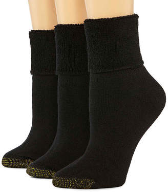 Gold Toe GoldToe 3-pk. Ultra Tec Turn-Cuff Socks