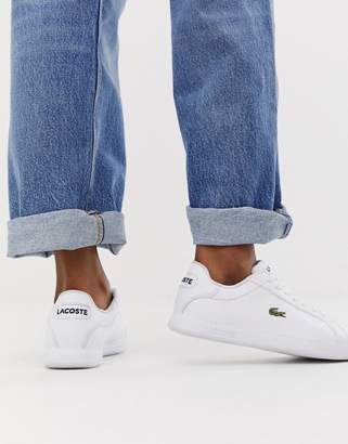 Lacoste Graduate BL1 leather sneakers in white