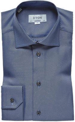 Eton Contemporary Fit Dressy Solid Dress Shirt