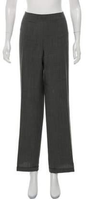 Akris Mid-Rise Wool Pants Grey Mid-Rise Wool Pants