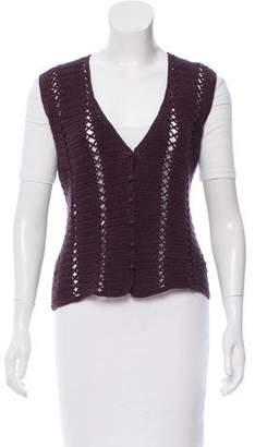Miu Miu Crochet Wool Vest