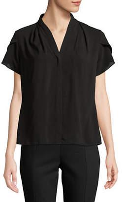 Calvin Klein V-Neck Short-Sleeve Blouse